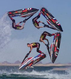 Jet Ski Stunt Shows, see them at the Milwaukee Air and Water Show August 3 and 4! #MKEairshow