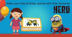Make your kids birthday special with their favourite hero! ‪#‎cakes‬ ‪#‎kidscake‬ ‪#‎birthdaycakes‬ ‪#‎onlinecakes‬