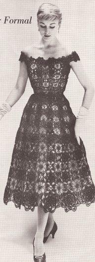 "Vintage 1950's lace formal ""Evening Dress""!"