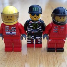 Customers choice of drivers #ayrtonsenna #kenblock #jameshunt #honda #ford #monsterenergy #spy #dcshoes #legends #lego #custom