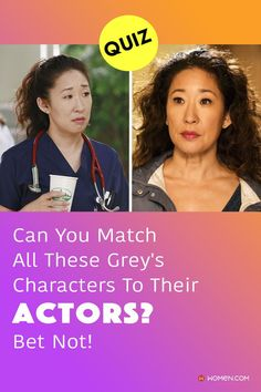 This Grey's quiz will test your knowledge on how well you can match the Grey's Anatomy characters to their actors. #greys #cristinayang #sandraOh #greyscharacters #hreysanatomy #greysactors Greys Anatomy Characters, Sandra Oh, Cristina Yang, Math Test, Trivia Quiz, Warm In The Winter, The Wiz, Grey's Anatomy, Nursery Rhymes