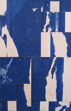Today's inspiration: Collage in blue and white by contemporary artist Cecil Touchon. Textures Patterns, Print Patterns, Art Graphique, Color Of Life, Grafik Design, Collage Art, Contemporary Art, Art Photography, Illustration Art