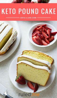 A delicious keto pound cake recipe for when you're craving a low carb friendly dessert. #ketodiet #ketorecipes #ketogenicdiet