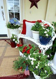 nice late spring summer porch decor