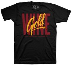 1e040eaf0 Wine   Script Gold T-Shirt – freshbrewedtees