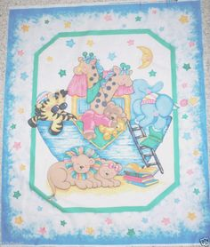 Noah's Ark Minky Quilt Panel Baby Blanket on Etsy, $50.00 ... : fabric panels for quilting baby - Adamdwight.com