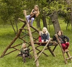 Treehouse Teepee Jungle Gym by Dream Weavers