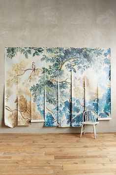 Pinterest the world s catalog of ideas for Anthropologie wallpaper mural