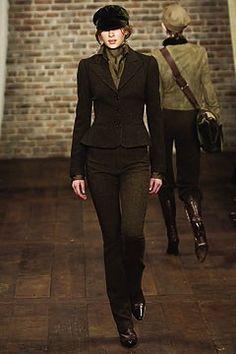 Ralph Lauren Fall 2003 Ready-to-Wear Fashion Show - Ralph Lauren, Elise Crombez