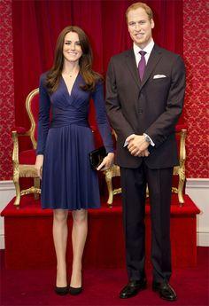 William y Kate de cera