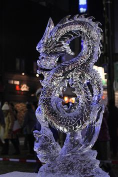 Dragon ice sculpture!!!