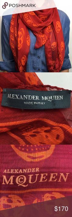 Authentic Alexander McQueen Skull Silk Scarf This is a beautiful silk skull scarf. In great pre-owned condition with no odor, rips or stains. Please review photos. Alexander McQueen Accessories Scarves & Wraps