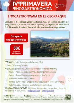 Disfruta de esta estancia enogastronómica en el Albergue Villuercas durante la #IVPrimaveraEnogastronómica #enoturismo #Cáceres #Extremadura