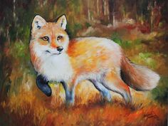 Little Red Fox Commissioned Painting