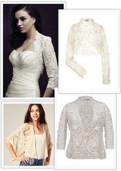 embroidered lace wedding boleros - Read more on One Fab Day: http://onefabday.com/wedding-boleros-cardigans/