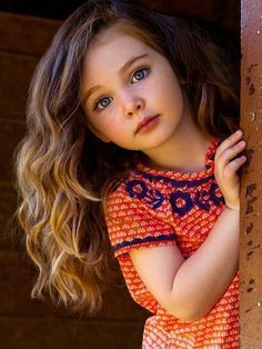 Image result for dark curly brown haired little girl