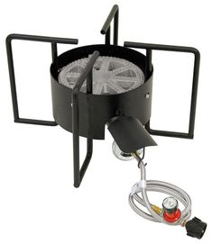 Bayou Classic Propane Cylinder Manual Ignition Black Steel Outdoor Burner at Lowe's. Designed to heat large boiling pots faster wide cooking surface. Outdoor Cooking Stove, Outdoor Stove, Crawfish Cooker, Braided Hose, Ovens, Steel Frame, Outdoor Decor, Outdoor Living, Classic