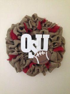 Ohio State University wreath by WreathByWhit on Etsy