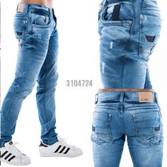mens jeans and boots Jeans And Boots, Denim Jeans, Jeans Pants, La Idol Jeans, Star Clothing, Denim Trends, Ripped Skinny Jeans, Denim Outfit, Jeans Style
