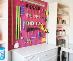 Pegboard Craft Room On Pinterest Craft Rooms Craft Room Storage And