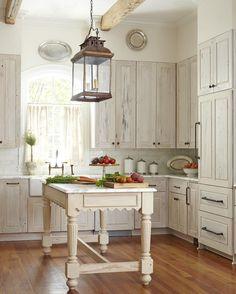 Whitewash Cabinets Kitchen Decor Flooring Home Design
