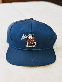 Rare Vintage ANHEUSER BUSCH Bud Light Spuds Mackenzie adjustable Hat 90s   fashion  clothing   de07b3253749