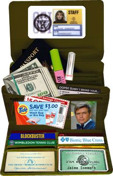 """The Bionic Woman's """"Mom Wallet"""" from the reunion movie review """"Bionic Ever After"""" : http://www.bionicblonde.com/bionic_blonde/Blog/Entries/2012/4/8_Bionic_Ever_After.html"""