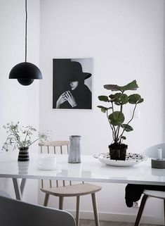 Monochrome kitchen in a Swedish home. Bjurfors.