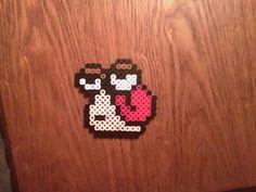 Pixel Red Snail by gaaraofthesandbox on DeviantArt