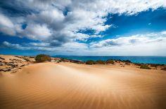 Desert Sand Fine Art Painting Giclee Poster Print On Glossy Photo Paper
