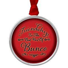 Bunco Friendship Metal Ornament