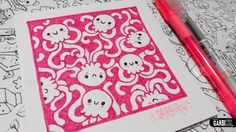 Cute jellyfishes - How to Draw Patterns for your doodles by Garbi KW