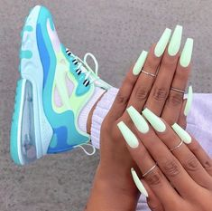 39 Superb Summer Nails You Must Try – neon nail art Bright Summer Acrylic Nails, Simple Acrylic Nails, Best Acrylic Nails, Summery Nails, Colorful Nails, Aycrlic Nails, Neon Nails, Pastel Nails, Coffin Nails