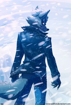 Wolf O'Donnell In the storm by VivianWolf18 on DeviantArt