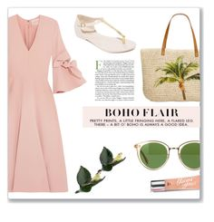 """Boho Flair"" by fancy-chic ❤ liked on Polyvore featuring Roksanda, Oliver Peoples, Style & Co., Herend, Beauty Rush and Melissa"