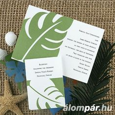 I like the simplicity of this design for an invitation with a little tropical flair Google Images, Invitations, Paper, Tropical Weddings, Cards, Painting, Wrapping, Design, Craft Ideas