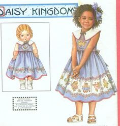 "$1.99 - CLEAROUT - Simplicity 8677 Daisy Kingdom Child's Dress sz 3-4 & BONUS  18"" Doll Clothes  #Simplicity"