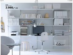 Ide for skrivebord med hyller fra Ikea