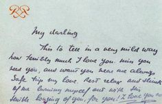 Note from Prince Ranier to Grace Kelly before she left New York to head to Monaco, 1956