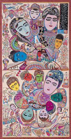 Taiwanese painter Hung Tung, in RV Art And Illustration, Illustrations, Outsider Art, Kunst Der Aborigines, Cobra Art, Figurative Kunst, Art Brut, Naive Art, Art Pictures