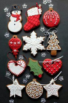Christmas cookies / jule cookies / dekorerede cookies med royal icing