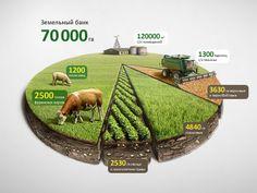 Infographic Agro Chart Illustration (data visualization) by Anton Egorov