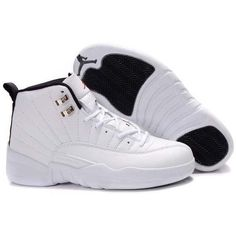 timeless design e5f81 4d8ce Retro Jordan Shoes, White Jordan Shoes, Jordan 12 White, All White Jordans,