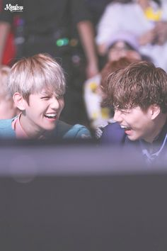 Awww... their laughs are so cute!~ | MAMA 2015 | 151202: Baekhyun and Kai | EXO 엑소