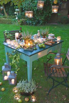Love the lanterns for picnic wedding