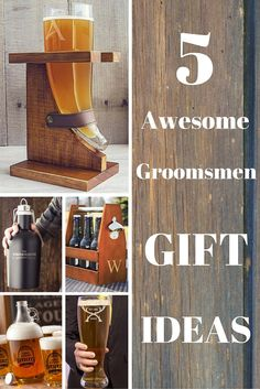 5 Awesome gift ideas for your best man and groomsman. Make it personal with a personalized gift for the beer lover in your wedding party. These gifts can be ordered at http://myweddingreceptionideas.com/personalized-beer-gift-ideas.asp
