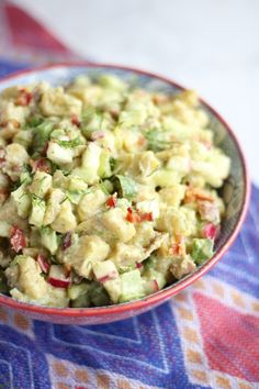 """Paleo Plantain """"Potato"""" Salad (AIP) - a lighter, healthier version of classic potato salad, made with green plantains, bacon, and dairy-free avocado ranch dressing! 