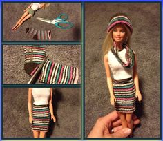 Barbie clothes from a sock - by Carli M