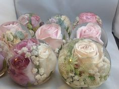 Wedding flower paperweights , transforming your wedding flowers forever