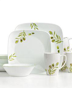Corelle Dinnerware, Italian Garden 16 Piece Set - Casual Dinnerware - Dining & Entertaining - Macy's
